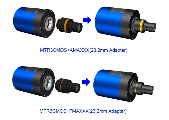 Extension of MTR3CMOS with Microscope Adapter