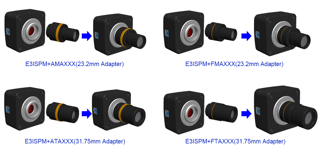 Extension of E3ISPM Series with Microscope or Telescope Adapter