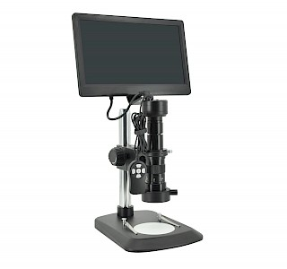 HC210-P Stereoscopic & Biological  HDMI Microscope with display integrated camera & 1.5m wired controller