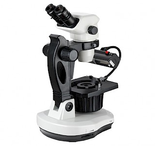 VGM650 Binocular Continuous Zoom Jewelry & Gemology Microscope with Perpendicular polarized and conoscopic observation